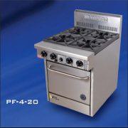 Goldstein PF-4-20 Gas 4 burner Oven Range