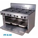 Goldstein PF-8-40 Gas 8 burner Oven Range