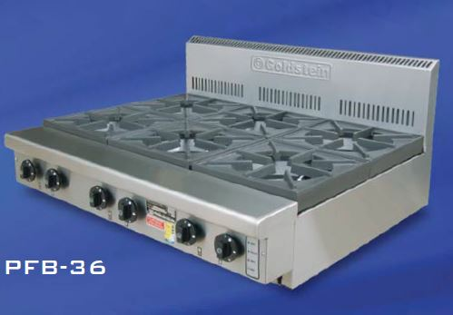 Goldstein PFB-36 Gas 6 burner Cooktop